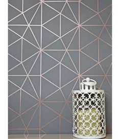 This Metro Prism Geometric Triangle Wallpaper in Charcoal and Copper features stylish metallic elements. Part of the World of Wallpaper Metro Collection. Free UK delivery available. Geometric Wallpaper Living Room, Geometric Triangle Wallpaper, Feature Wallpaper Living Room, Bedroom Wallpaper, Copper Wallpaper, Metallic Wallpaper, Wallpaper For Kitchen, Pink And Grey Wallpaper, Copper And Pink