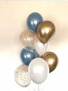 Bridal Shower Decorations Ideas - New ideas Balloon Decorations Party, Balloon Garland, Bridal Shower Decorations, Wedding Decorations, Shower Centerpieces, White Bridal Shower, Gold Bridal Showers, Gold Shower, Deco Baby Shower