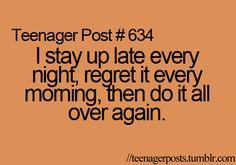 Teenager Post...more like Stay @ Home Mom/Nanny post...