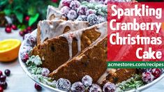 Sparkling Cranberry Christmas Cake Recipe