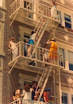 Fire escape party!