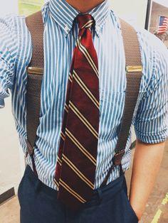 Suit And Tie, Gentleman Style, Suspenders, Fashion Addict, Tarot, Menswear, Street Style, Mens Fashion, Stylish