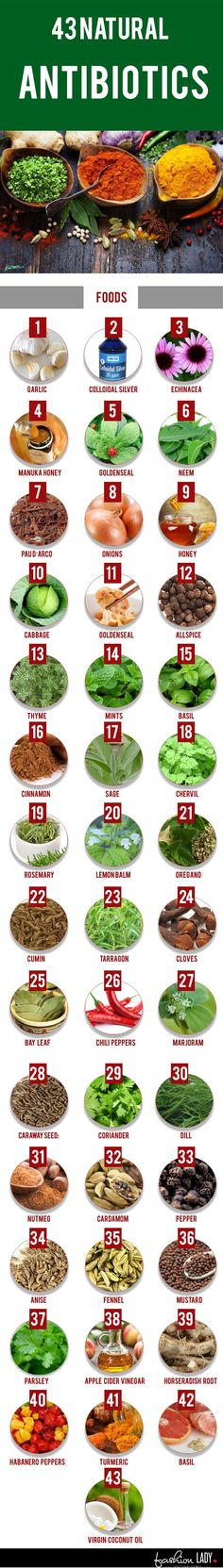 43 Natural Antibiotics #survivalmedicine