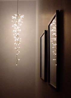 A neat way to reuse Christmas lights. (while I'm sitting here avoiding taking them down...)