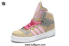 Girl s Adidas X Jeremy Scott Big Tongue Shoes Pink Yellow Shoes Store