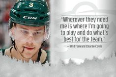 Charlie Coyle.  MN Wild #3