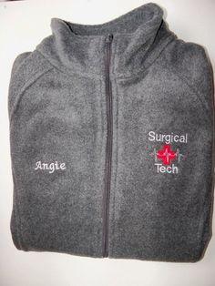 Surgical Tech Embroidered Fleece Jacket NICU  ER Nurse Ortho