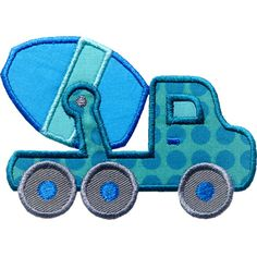 Cement Truck Applique by HappyApplique.com Applique Templates, Applique Patterns, Applique Designs, Quilt Patterns, Owl Templates, Machine Applique, Free Machine Embroidery Designs, Machine Quilting, Patchwork Quilting