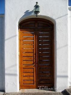 White wall and door in Mexico Manzanillo, Mexico Architecture elements - Art Print by Tatiana Travelways