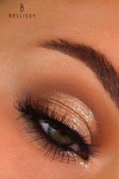 Prom Makeup For Brown Eyes, Golden Eye Makeup, Soft Eye Makeup, Glam Makeup, Makeup Inspo, Natural Makeup, Eyeshadow Basics, Makeup Geek Eyeshadow, Bronze Makeup Look