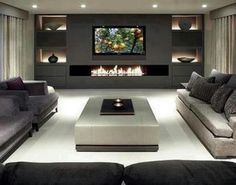 Built in fireplace...Modern