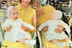Patons 754 baby booklet vintage knitting crochet pattern