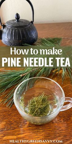 Pine needle tea is an easy-to-forage medicinal brew that tastes great and has numerous health benefits. Anti-inflammatory and a useful respiratory remedy, pine needle tea is a smart addition to your herbal tea rotation. #foraging #pinetea #plantmedicine #naturalremedies #herbalism Healthy Drinks, Healthy Eating, Healthy Recipes, Tea Benefits, Health Benefits, Dandelion Salad, Edible Wild Plants, Green Living Tips, Fresh Christmas Trees