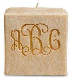 Monogrammed Natural Scent Candle