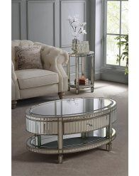 Antoinette Toughened Mirror Coffee Table/ Mirrored Coffee Table / Curved Mirrored Furniture / My Furniture Mirrored Furniture, My Furniture, Furniture Design, Mirrored Coffee Tables, Modern Furniture Online, Pillow Top Mattress, Antique Pewter, Furniture Collection, Console Table
