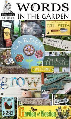 Words in the garden.....
