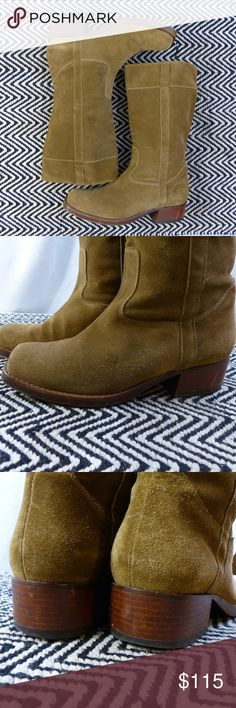 ROBERT CLERGERIE Suede Boots Simplicity in design and top notch workmanship & materials. Great moto boots in excellent, gently used, condition. All leather - soft suede upper,  buttery leather lining and tough sole. True to size. Made in France. Robert Clergerie Shoes Combat & Moto Boots