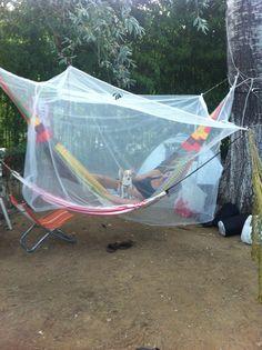 Mexican Chiapas hammock with mosquito net. A complete hammock Hammock With Mosquito Net, Outdoor Furniture, Outdoor Decor, Greece, Mexican, Camping, Home Decor, Hammocks, Campsite