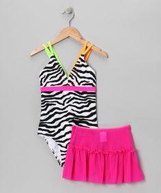 Abra Cadabra Zebra One-Piece & Skirt