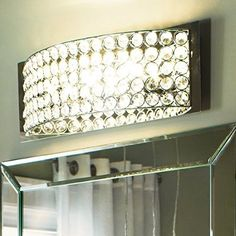Kichler Lighting 4-Light Krystal Ice Chrome Crystal Bathroom Vanity Light