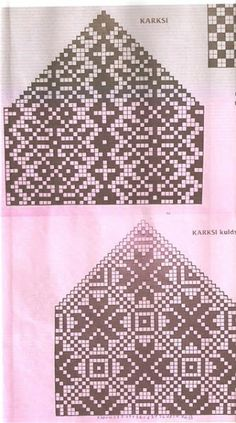 knitting chart snowflake Картинка