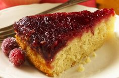 Ocean Spray Cranberry-Ginger Upside Down Cake. Try this recipe now: http://www.oceanspray.com/Recipes/Corporate/Desserts---Snacks/Cranberry-Ginger-Upside-Down-Cake.aspx?courses=DessertsSnacks
