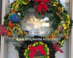 Juneteenth Wreath My Door Decor Amp More Kwanzaa