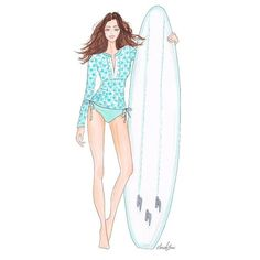 Feeling inspired and missing the long weekend at the same time! #cabanalife #upf50 #sunprotection #rashguard #sun #fun #beach #art #fashion #swimwear #surfsup #surfboard #watersports #sup #water Illustration by: @illustriousjane #surfexpo