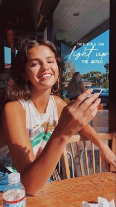 Selena Gomez Wallpaper iPhone Smile Sun Source by
