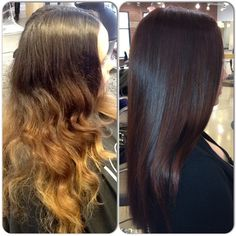 Dramatic fall makeover By Carla Makowski. Holiday Hairstyles, Trendy Hairstyles, Before After Hair, Matrix Hair, Matrix Color, Hair Color And Cut, Color Correction, Hair Highlights, Hair And Nails