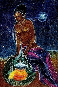 """Goddess in the Cauldron"" par Susan Seddon Boulet"