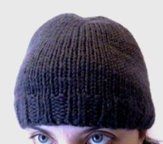 Free Knitting Pattern - Hats: Half-Ribby Cap  I made this one from a wool for TJ but it is all funsional and lacking is flattery