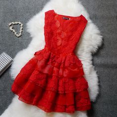 Lace embroidered organza dress JFl