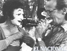 Edición Aniversaria 2002. Renny Ottolina con Marcel Marceau (ARCHIVO EL NACIONAL)