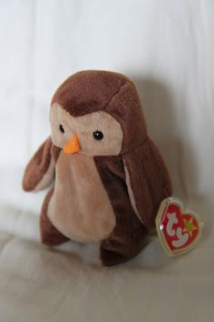 5 inches tall by Ty Beanie TY Beanie Babies Hoot the Owl Stuffed Animal Plush Toy