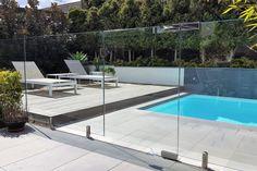 Image result for frameless pool fence detail