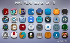 MMII Flat Vol 3 Icons http://www.iconspedia.com/pack/mmii-vol-3-icons-4263/ Great for customiziung your android phone with our app: https://play.google.com/store/apps/details?id=com.mob.iconspedia
