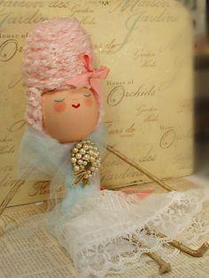 handmade ooak shabby chic Marie Antoinette by sugarcookiedolls, $56.00