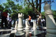 Wow, Bandar Lampung Pecahkan Rekor MURI Papan Catur Terbesar. Ukuran papan catur terbesar sebelumnya dicatat Kota Jember dengan ukuran 25x25 meter, dan di Kota Bandar Lampung berhasil memecahkan rekor baru dengan besar papan catur 32x32 meter.
