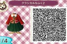 Cute Holiday Dress -  Animal Crossing New Leaf QR Code