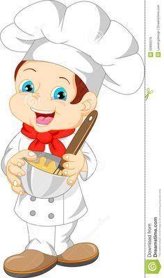 Koch bei der arbeit clipart  Bildergebnis für clipart koch | Koch Küche Applikationen Patches ...
