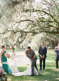 Real Wedding   Ford Plantation   Gorgeous Wedding Venue   Savannah, Georgia   Low Country   Posh Petals and Pearls   Bride and Groom Inspiration   Wedding Ceremony   Ashley Seawell Photography   Wedding Ceremony   First Kiss