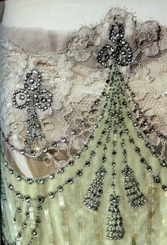 Gorgeous lace and textures and beadwork