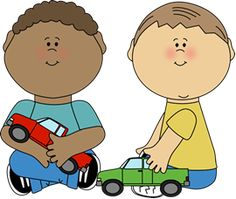 Boys Playing with Trucks and lots of other really cute free clipart in color and B/W Classroom Clipart, School Clipart, Kindergarten Classroom Setup, Nursery Teacher, School Images, Free To Use Images, Boys Playing, Cartoon Kids, Craft Activities