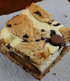 Peanut Butter Cup Chocolate Chip Cookie Dough Cheesecake Bars