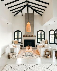 Traditional Spanish Villa Turned Into a Stunning Ethnic-Scandinavian Dream Home - Decoholic Living Room Inspiration, Home Decor Inspiration, Decor Ideas, Style At Home, Spanish Interior, Modern Spanish Decor, Spanish Home Decor, Rustic Modern, Spanish Style Homes
