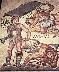 pictures of ancient gladiators | The main training schools for gladiators were in Capua, south of Rome.