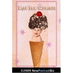 Background Digital Photography Props - Ice Cream Collection