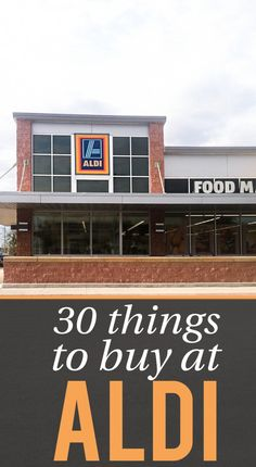 { Frugal Living } Ever wondered what to buy at Aldi? Here are 30+ of the best buys to put on your Aldi shopping list!