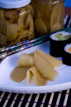 Gari  Eingelegter Ingwer Pickled Ginger  http://www.vivalasvegans.de/rezepte/dips-aufstriche/eingelegter-ingwer-gari/
